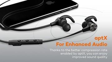 TaoTronics Bluetooth Kopfhörer 4.1 In Ear Ohrhörer Stereo mit Mikrofon, magnetische Headset AptX IPX5 Wasserschutz für iPhone 6 6S 6 Plus 6S Plus 5S 5 5C 4S 4, Galaxy S6 S6 Edge S5 S4 Mini -