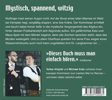 Erntedank: Kluftingers zweiter Fall: 3 CDs (Ein Kluftinger-Krimi, Band 2) -