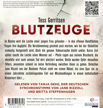 Blutzeuge (Rizzoli-&-Isles-Serie, Band 12) - 2