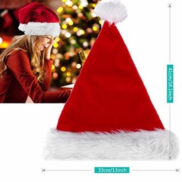 homeasy Weihnachtsmütze Nikolausmütze Weihnachtsmannmütze Partymütze Weihnachtsfeier Hut Weihnachtsmarkt Hüte - 2