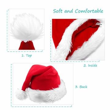 homeasy Weihnachtsmütze Nikolausmütze Weihnachtsmannmütze Partymütze Weihnachtsfeier Hut Weihnachtsmarkt Hüte - 3