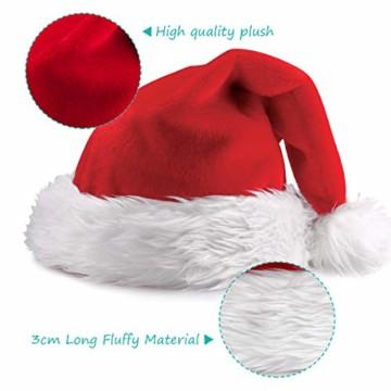 homeasy Weihnachtsmütze Nikolausmütze Weihnachtsmannmütze Partymütze Weihnachtsfeier Hut Weihnachtsmarkt Hüte - 4