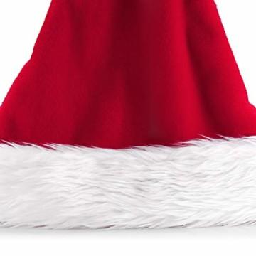 homeasy Weihnachtsmütze Nikolausmütze Weihnachtsmannmütze Partymütze Weihnachtsfeier Hut Weihnachtsmarkt Hüte - 5