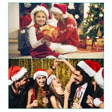 homeasy Weihnachtsmütze Nikolausmütze Weihnachtsmannmütze Partymütze Weihnachtsfeier Hut Weihnachtsmarkt Hüte - 6