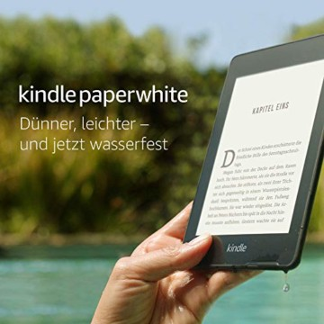 Kindle Paperwhite, wasserfest, 6Zoll (15cm) großes hochauflösendes Display, 8GB – mit Spezialangeboten - Schwarz - 8