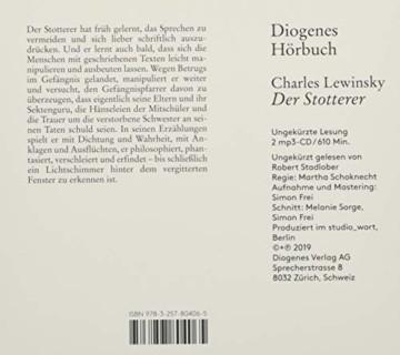 Der Stotterer (Diogenes Hörbuch) - 2