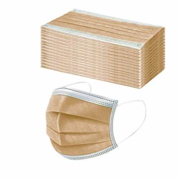 50 Stück Einmal-Mundschutz, Staubs-chutz Atmungsaktive Drucken Mundbedeckung, Erwachsene, Bandana Face-Mouth Cover Sommerscha (50 Stück, Braun-B) - 3