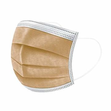 50 Stück Einmal-Mundschutz, Staubs-chutz Atmungsaktive Drucken Mundbedeckung, Erwachsene, Bandana Face-Mouth Cover Sommerscha (50 Stück, Braun-B) - 1