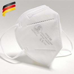 FFP2 Maske in Deutschland hergestellt - DEKRA zertifizierte Atemschutzmaske mit 98% Filterwirkung – EN 149 geprüft, 4-lagig, kein KN95-10 Stück - 1